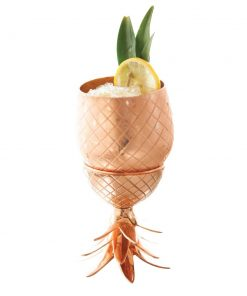 Copper Pineapple Glass